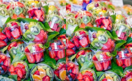 Les salades de fruits du Mercat de la Boqueria