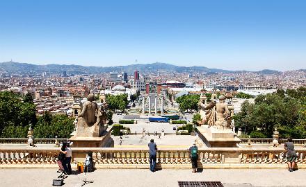 Balade à travers le Montjuïc avec sa magnifique vue