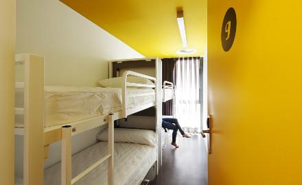 Une chambre dans le Amistat Beach Hostel