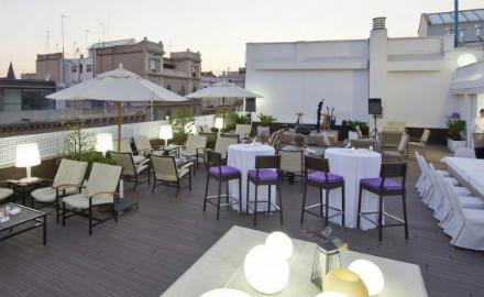 Terrasse de l'hôtel NH Podium