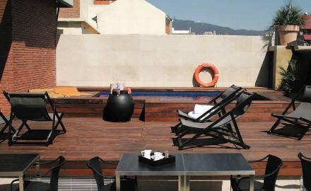 Terrasse de l'hôtel Granados