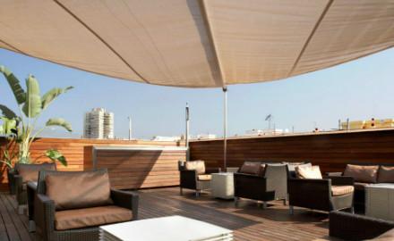 Terrasse de l'hôtel Soho
