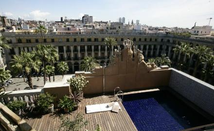 Terrasse de l'hôtel Do Plaça Reial