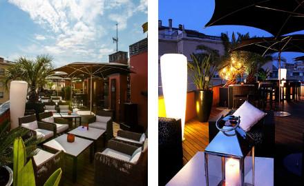 Terrasse de l'hôtel Villa Emilia