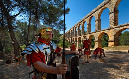 Romain en poste - Reconstitution Tarragona