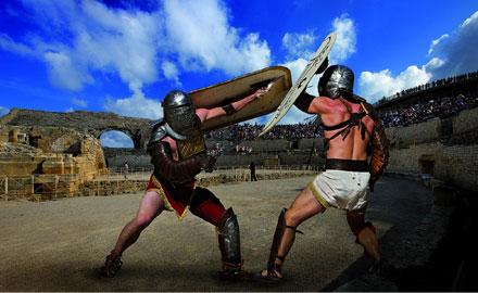 Combat de gladiateurs - Reconstitution Tarragona