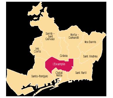 Quartier L'Eixample de Barcelone