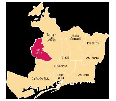 Quartier Les Corts de Barcelone