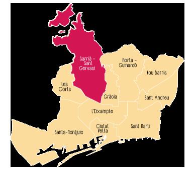 Quartier Sarrià - Sant Gervasi de Barcelone