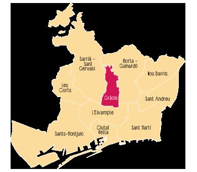 Quartier Gràcia de Barcelone